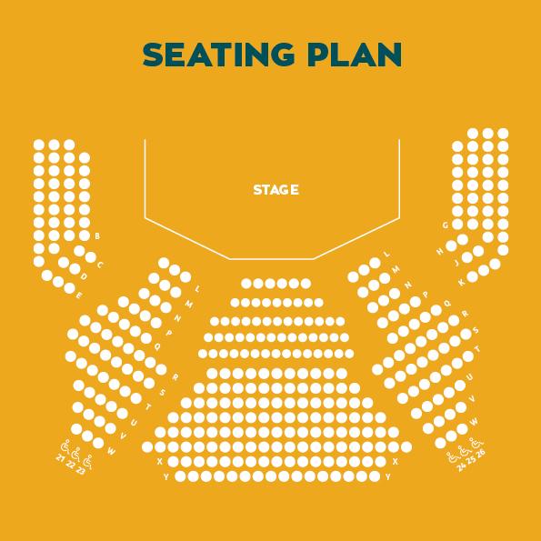 Riverside Theatre Seating Plan
